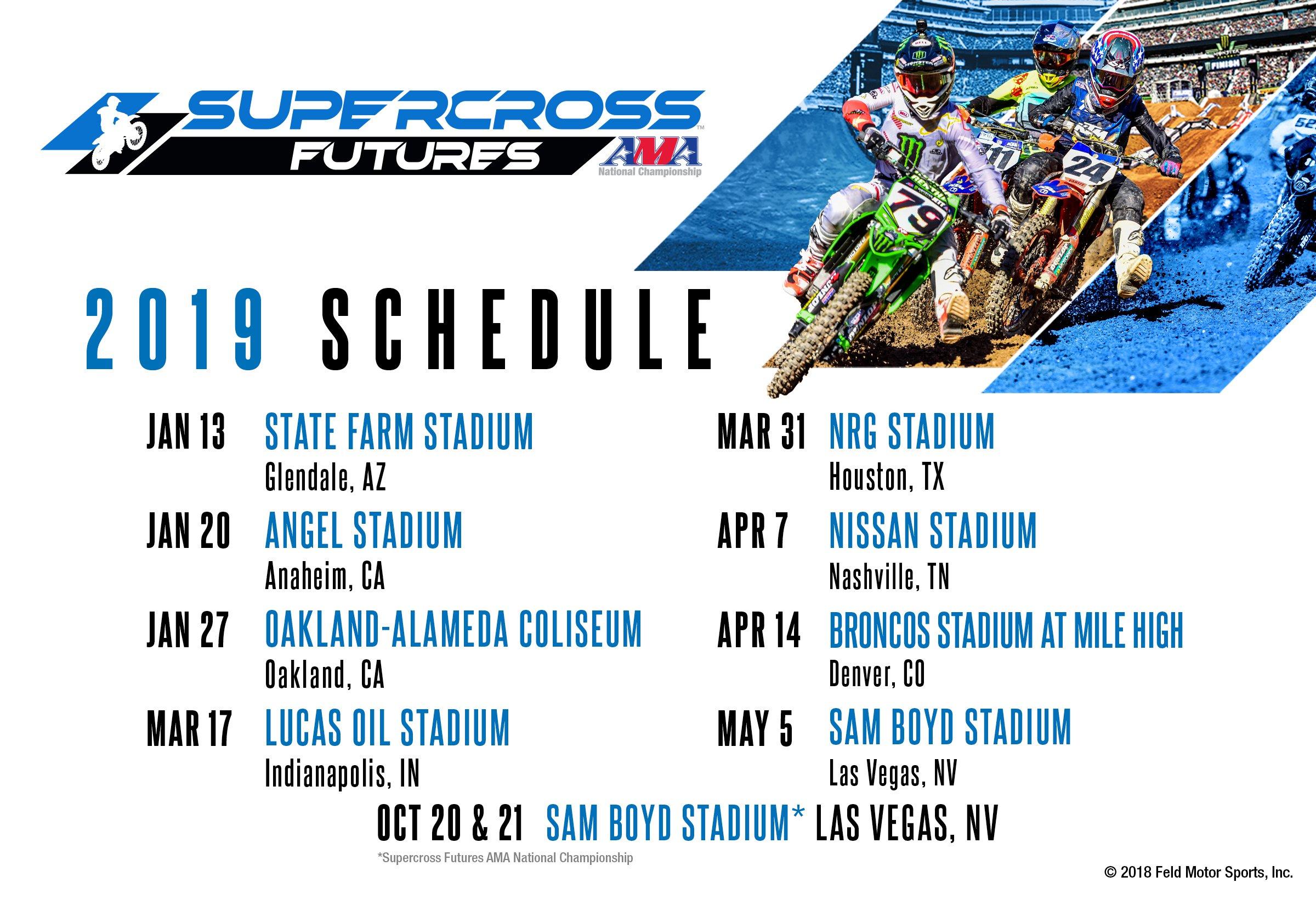 2019 Sx Schedule Supercross Futures :: Schedule :: LiveMX